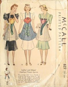 This is so adorable ..I don't think I have actually seen a vintage apron made like these ..but wouldn't they be cute done up in Feedsack..