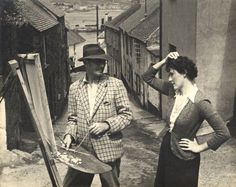 Ernest Procter Doris Margaret ('Dod') Procter Members of Newlyn Society of Artists. Harlem Renaissance, Post Impressionism, Impressionist Art, Elizabeth Forbes, Art Deco, Homeless Man, English Artists, Colorful Artwork, Italian Artist
