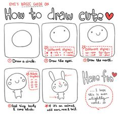 How to draw cute- to add to my time filler activities for early finishers