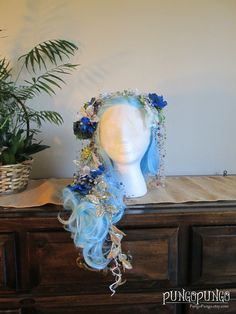 Hey, I found this really awesome Etsy listing at https://www.etsy.com/listing/214125428/sale-mermaid-wig-winter-mermaid-lace