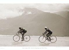poster ciclismo coppi bartali