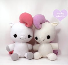 Plushie Sewing Pattern PDF Cute Soft Plush Toy - Hana Baby Pony Cuddly Stuffed Animal 18""