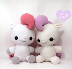 """Plushie Sewing Pattern PDF Cute Soft Plush Toy - Hana Baby Pony Cuddly Stuffed Animal 18"""""""