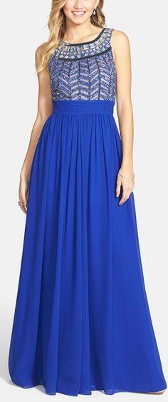 Blue beauty with embellished bodice