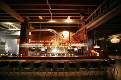 The main bar is adjacent to the dance floor and has seating for 45. Photo: Don Sercer