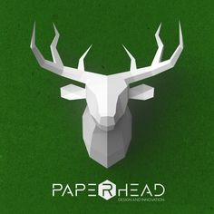 Wall-type Deer head template PDF by PaperheadDesign on Etsy