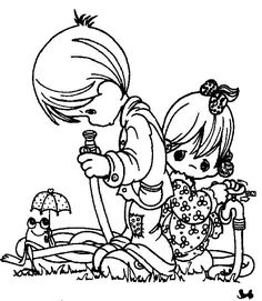 Coloring pages precious moments 75