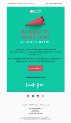 Customer Survey Email Newsletter Design  Inspiration