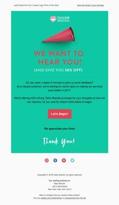 Customer Survey Email Newsletter Design  Inspiration
