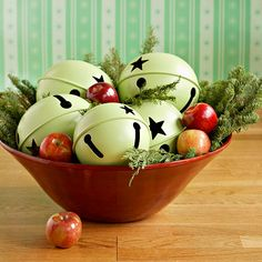 Bowl Of Bells - Adorable Christmas Centerpiece
