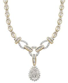 Diamond Necklace, 14k Gold Diamond Teardrop | More bling here: http://mylusciouslife.com/photo-galleries/bling-fling/