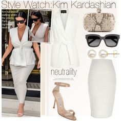 Style Watch:Kim Kardashian by nfabjoy on Polyvore featuring polyvore, fashion, style, River Island, Manolo Blahnik, Alexander McQueen, Honora, Yves Saint Laurent, clothing and paris
