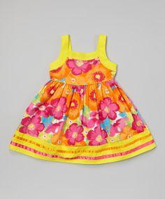 Floral Stripe A-Line Dress @Pascale De Groof