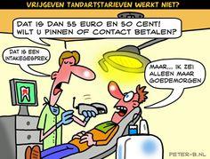 Cartoon [BlikopNieuws.nl]  Gelukkig schijnt onze tandarts niet zo te zijn.