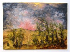 Catskill Landscape 28 x 21 Oil Painting by GreganPaintings on Etsy