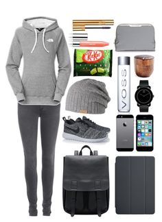 """""""University VI"""" by bonne-e on Polyvore featuring Acne Studios, NIKE, The North Face, Barts, Anya Hindmarch, Movado, Paper & Tea, Clinique and Yves Saint Laurent"""