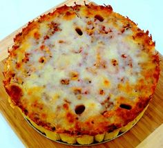 An incredible Pasta Pie, so unique and tastes amazing.