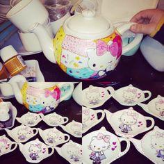 Tetera de té hello Kitti 🐱 Tableware, Tea Pots, Dinnerware, Dishes