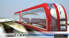 Solar-Powered MagLev Concept Train is Sleek Alternative Transportation... Francisco Lupin designed this sleek concept train for Bombardier is solar powered, made of lightweight materials and utilizes MagLev technology for a fast and energy efficient train.
