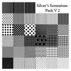 Silver's Screentone Pack V2 - 31 Patterns (.pat)