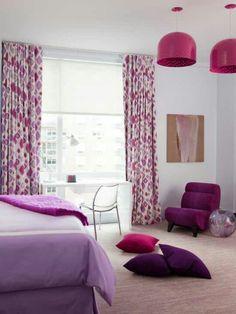 color combo - lavender fuschia plum & grey