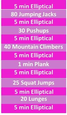 40 minute elliptical & circuit workout