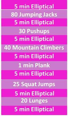 40 Minute Elliptical+Circuit Workout