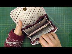 Cartera monedero - YouTube Sew Wallet, Fabric Wallet, Clutch Wallet, Pencil Case Tutorial, Wallet Tutorial, Wallet Sewing Pattern, Sewing Patterns, Nail Bags, Sewing Terms