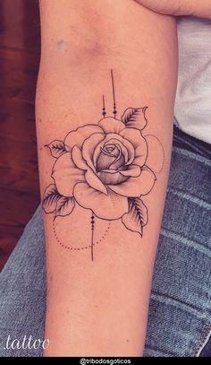Rose Drawing Tattoo, Rose Tattoo On Arm, Tattoo Drawings, Arm Sleeve Tattoos For Women, Tattoos For Women Small, Small Tattoos, Female Arm Tattoos, Forarm Tattoos, Up Tattoos
