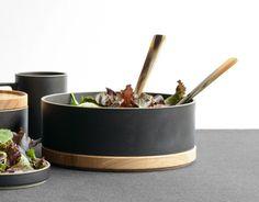 Large Hasami Porcelain Lidded Bowl (Black)