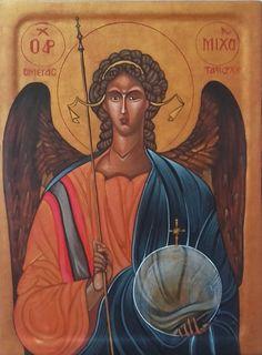 Ikona+Archanioła+Michała+według+kanonu+ikony+bizantyńskiej+z+trzeciej+ćwierci+XIVw.