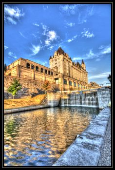 The water flows through the Locks in Ottawa, Canada's Capital. O Canada, Canada Travel, Ottawa, Ontario, Secret Space, Cities, Pacific Coast, Newfoundland, Places To Travel