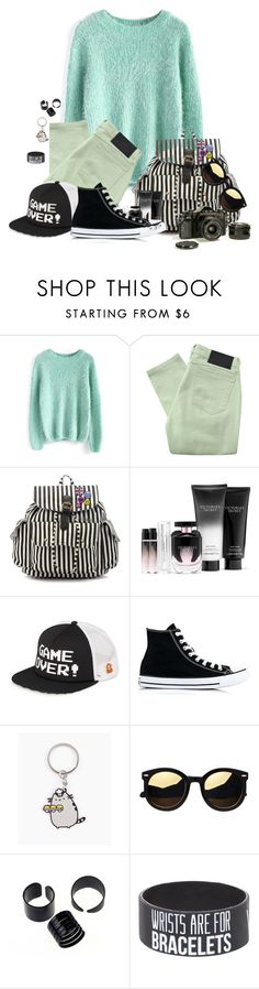 """""""Untitled #1651"""" by patsypatsy ❤ liked on Polyvore featuring Chicwish, Religion Clothing, Anna Smith, Victoria's Secret, Vans, Converse and Pusheen"""