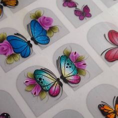 Arte Floral, Tie Dye, Butterfly, Stickers, Nails, Prints, Barbie, Painting, Nail Stickers