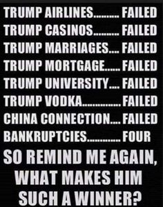 He has failed at everything and now he wants to F up this country???