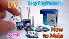 DIY Realistic Miniature PS4 Console | DollHouse - YouTube