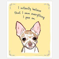 Fab.com | Peeing Chihuahua 8x10