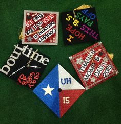 Some grad caps from the 2015 @univofhouston graduation. #UHGrad