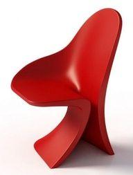 'Strip' by Fabio Novembre for Casamania Cozy Furniture, Unique Furniture, Contemporary Furniture, Furniture Design, Fancy Chair, Love Chair, Bauhaus, Take A Seat, Cool Chairs