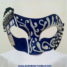 TARDIS masquerade mask. MASQUERADE!!! GEEKY FACES ON PARADE!