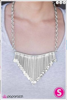 b4a77c701614 Brilliantly Barricaded - Silver! One of my favorites $5 Silver Bar  Necklace, Silver Bars