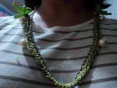 collar crochet y cadena