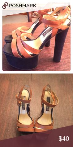 Steve Madden Heels Size 7 very high heels with a platform toe...very easy to walk in/comfortable Steve Madden Shoes Heels