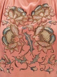 "pearl-nautilus: ""Detail of the embroidery on an evening blouse by Elsa Schiaparelli, summer 1940."""