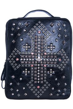 ROMWE | Studded Cross Embellished Backpack, The Latest Street Fashion
