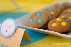 Colour coordinate cookies to your party colours by using candy coated chocolate. Brilliant and so easy.