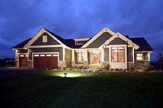 House Plan 42505 | Bungalow   Craftsman   Luxury    Plan with 1918 Sq. Ft., 2 Bedrooms, 2 Bathrooms, 3 Car Garage