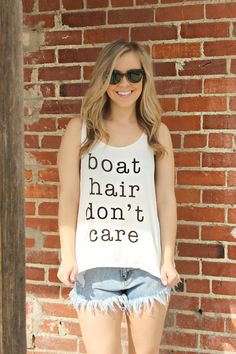 Boat Hair, Don't Care Tee