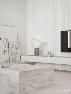 'Stoned in Love' Apartment — Live IN Home Room Design, Dream Home Design, Interior Design Living Room, Living Room Designs, House Design, Luxury Kitchen Design, Luxury Interior Design, Interior Design Inspiration, Stone Interior