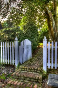 Garden Gate Colonial Williamsburg Virginia | Karen Jorstad Photography